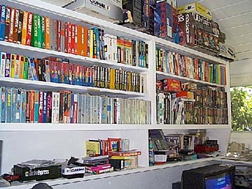 Some of Rob W.'s game collection. This is just the domestic part!