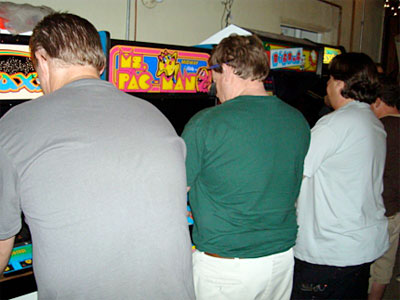 The arcade tournament in action