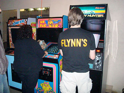 Paul Dean brought Donkey Kong, Ms Pac-Man, and Spy Hunter to the party. Love that shirt!!