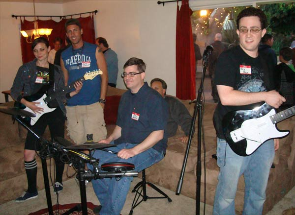 Gamers and actual musicians rocked out to over 630 Rock Band songs all night.  The mics were worn out by the end of the event