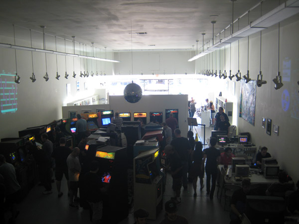 The arcade, as it appeared during daylight hours.  It became more crowded as the sun went down