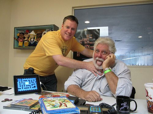 Mike from GameGavel clowning around with Keith from Intellivision Productions