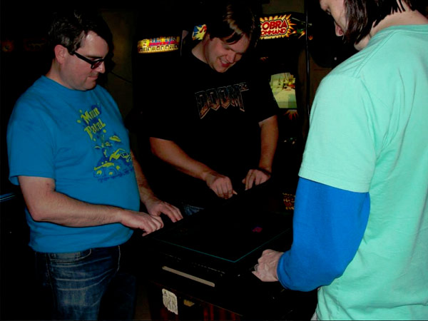 Four-player Warlords served as the centerpiece of the garage arcade