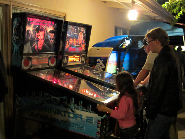 You're never too young to start fighting evil Terminators with the power of pinball