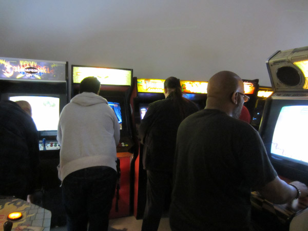 People crammed in the arcade all night, but 2084 has so many cabs that you could usually find a free one