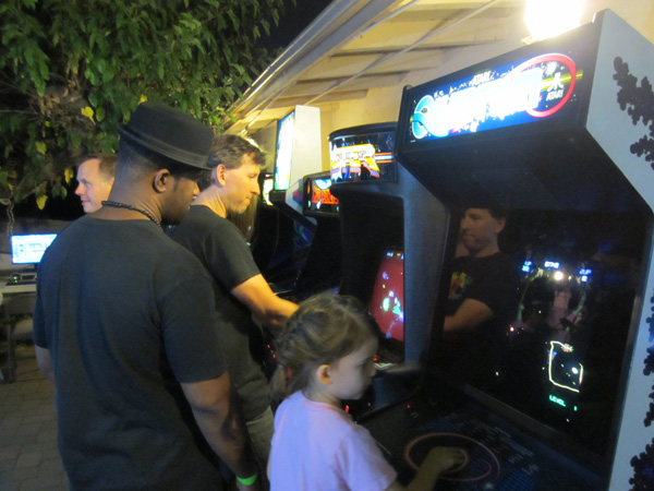 The patio arcade boasted a few titles you don't see that often: Bagman, Jr. Pac-Man, Blaster and Quantum
